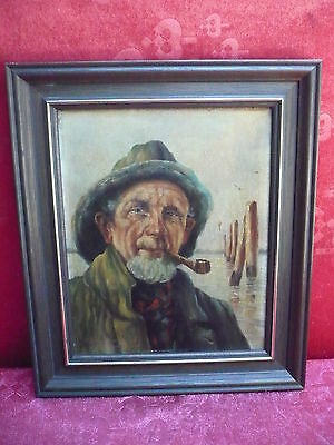 Lovely Old Painting Sailor W. Pipe Signed