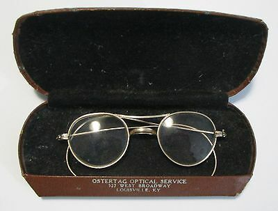 Antique Baby SHURON Gold Filled Eyeglasses ~ Thick Lenses ~ Case LOUISVILLE KY