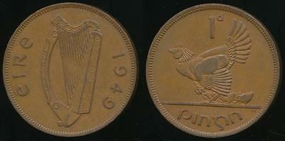 Ireland, Republic, 1949 One Penny, 1d - Extra Fine