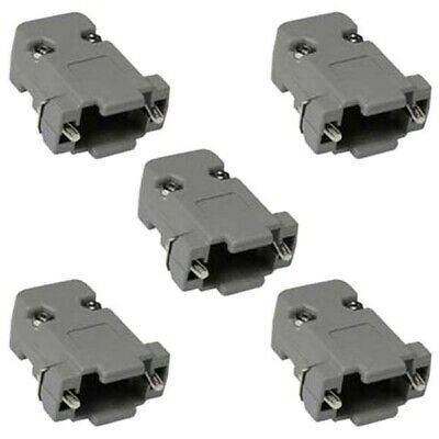 5x DB9 9 pin D-SUB Plastic Housing for RS232 Serial Solder Cup DB 9 Connector
