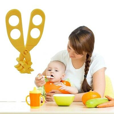 Baby Food Cutting Crushing Grinder Multifunctional Food Shear Scissors OE