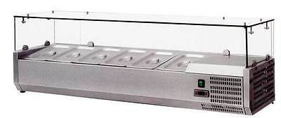 "OMCAN RS-CN-0004-P 48"" European Topping Rail Refrigerated Pizza Prep Table Top"