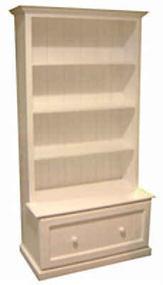 Bookcase Combo + 1 Drawer - 1800(H) X 900(W) - White