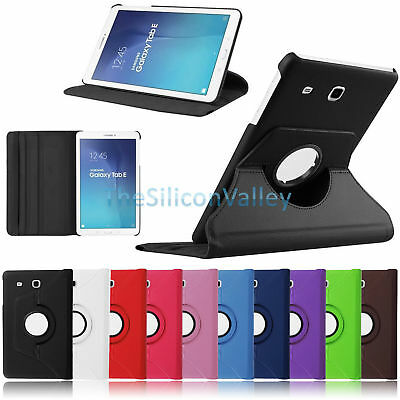 """360 Rotating Smart Leather Case Cover For Samsung Galaxy Tab E 9.6"""" SM-T560"""