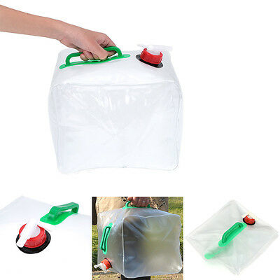 20 Litre Folding Collapsible Portable Camping Water Carrier Container Handle Tap