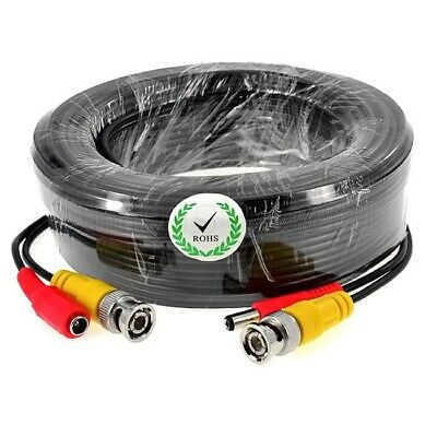 5M,10M,15M,50ft,20M,30M BNC Video DC Power Extension Cable for CCTV Camera DVR