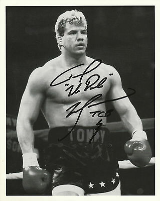 Tommy Morrison Hand Signed Photo 10x8 RARE COA Rocky V Duke