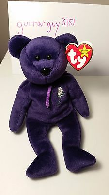 Princess Diana Ty Beanie Baby, Rare Collector's Item, 1997, P.E. Pellets