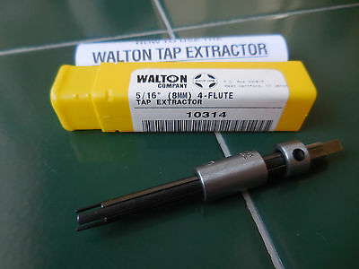 """New 10314 Walton 5/16"""" 4 Flute Broken Tap Extractor Made In The Usa"""
