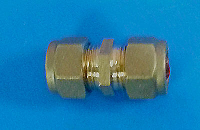 Pack of 4 x 10 mm Brass Compression Coupler. #64