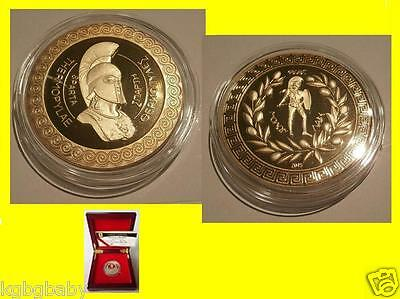 Greek Leonidas Spartan King-GOLD Plated BOXED collectable-Limited; C.O.A.