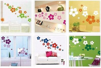 blumen deko wandsticker wandtattoo aufkleber wohnzimmer. Black Bedroom Furniture Sets. Home Design Ideas