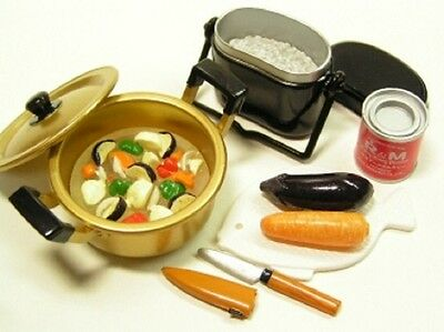 Re-ment dollhouse miniature camping cooking implements cooking pot 2006