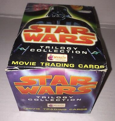 Star Wars Trilogy Trading Cards Box The Empire Strikes Back Return of the Jedi