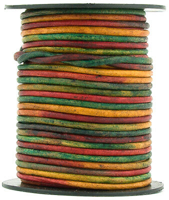 Xsotica® Kinte Gypsy Natural Dye Round Leather Cord 2mm 10 meters (11 yards)