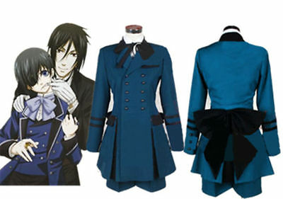 NEW Black Butler Ciel Phantomhive Cosplay Costume cospaly Full Set Outsite Unsex