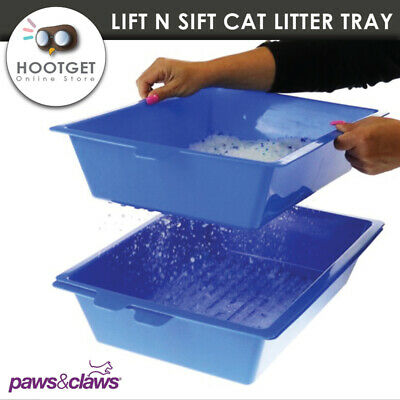 Lift N Sift Self Cleaning Cat Litter Box Tray Self Sifting Kitten Litter Trays