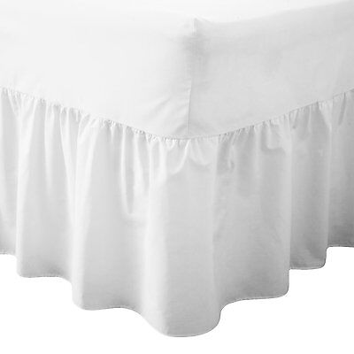 Luxury 100% Poly- Cotton Valance Sheets 180 Thread Count Single Double King