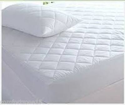 Extra Deep 30Cm /40Cm Quilted Mattress Bed Protector Topper Fitted Cover
