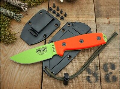Couteau ESEE Model 3 Venom Green Carbone 1095 Manche G-10 Made In USA  ES3PMVG
