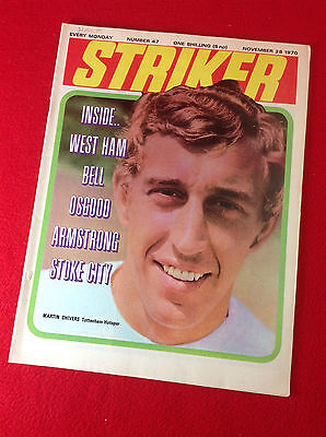 Vintage : STRIKER : Football Magazine : 28 Nov 1970 - No 47
