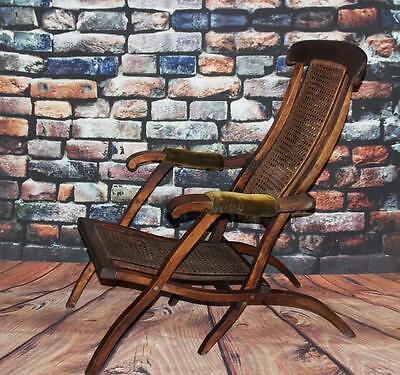 Victorian Bergere Folding Steamer Deck Chair - FREE Delivery [PL1839]