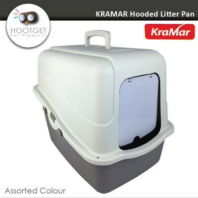 KRAMAR Hooded Cat Litter Box - Portable Pet Kitten Cat Toilet Tray Pan House XL