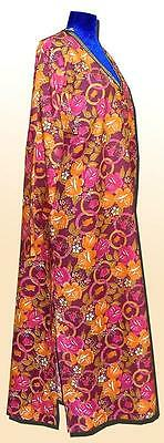 Vintage Long Traditional Bright Uzbek Natural Cotton Chemise A5794