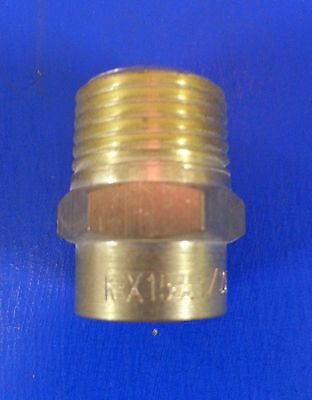 """15mm End Feed x 1/2"""" Male BSP Brass Fitting   #409"""