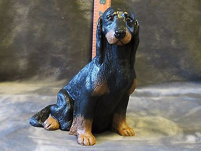Gordon Setter Plaster Dog Statue Hand Cast And Painted By T.c. Schoch