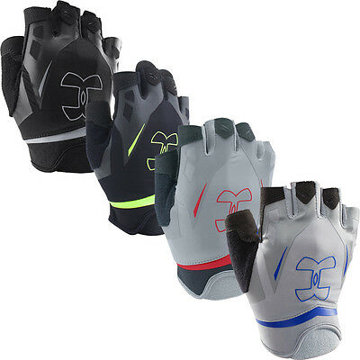 Under Armour 2017 Flux Half-Finger UA Fitness Mens Gym Training Lifting Gloves