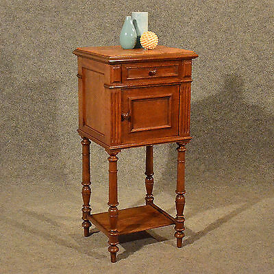Antique Small Cabinet Side Table Bedside Cupboard Quality French Oak Art Deco