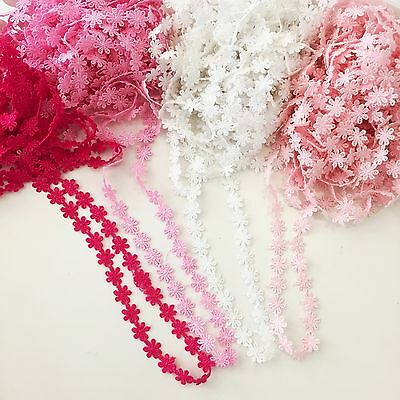 1m 12mm Daisy Flower Lace Sewing Trim Doll Craft Scrapbooking Cardmaking Costume