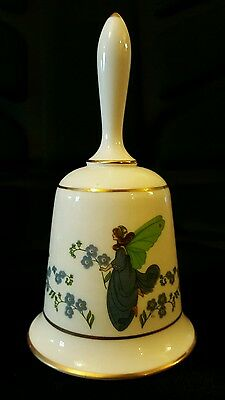 Vintage Franklin Porcelain Forget-me-not Flower Fairy Fine Bone China Bell 1979