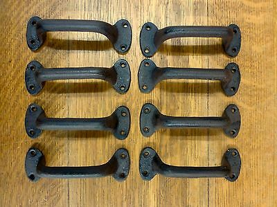 "8 Brown 5.5"" Simple Drawer Door Cabinet Pulls Handles Antique-Style Cast Iron"