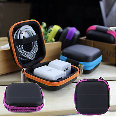 Mini Zipper Case Bag Storage Pouch Cover For iPod iPhone 6 6s Headphone Headset