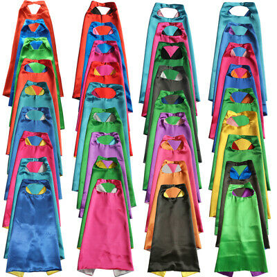 70cm - 1pc - superhero cape - plain cape, solid kid cape, blank reversible capes