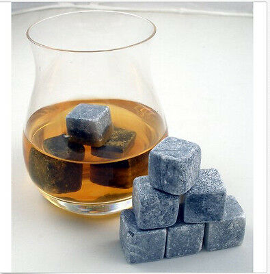 9 Pcs Whiskey Stones Cube Rocks Alcohol Bar Party Dining Accessories