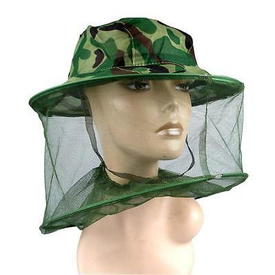 Midge Mosquito Insect Hat Bug Mesh Head Net Face Protector Travel Camping Cap