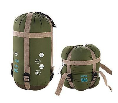 Outdoor Camping Micro Sleeping Bag Compact Thermal Hiking Tent Winter Army Green
