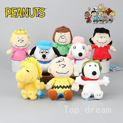 New PEANUTS Snoopy Charlie Brown Woodstock Belle Lucy Sally Plush Toy Doll Teddy