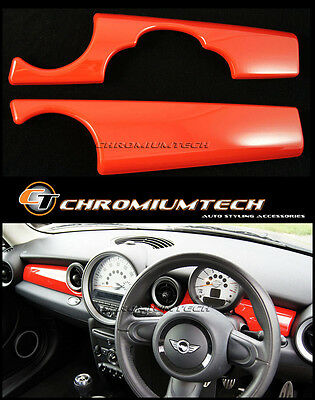 MK2 MINI Cooper/S/ONE/JCW R55 R56 R57 R58 R59 RED Dashboard Panel Trim Cover LHD