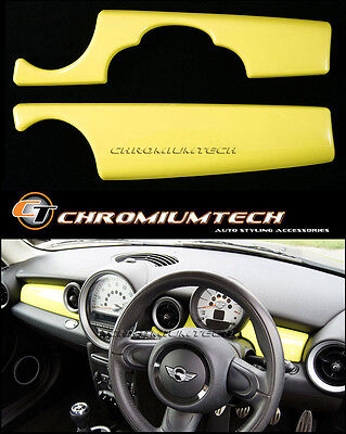 MK2 MINI Cooper/S/ONE YELLOW Dashboard Panel Trim Cover R55 R56 R57 R58 R59 LHD