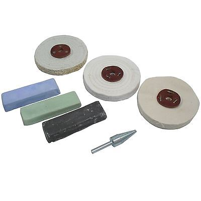 "Budget Polishing Kit Coarse / Medium and Fine Mops 4"" POL03"
