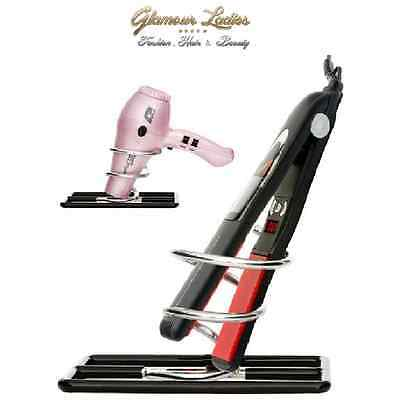 Hair Tools Chrome Table Top Stand For Hair Dryers And Straighteners