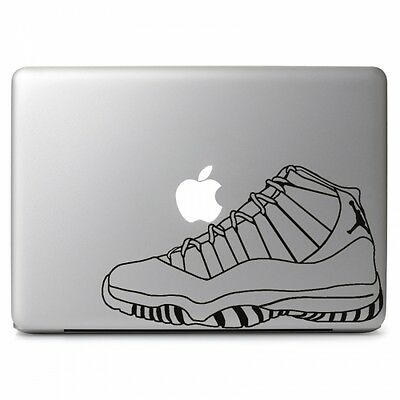 "Air Jordan Retro No. 11 Shoes Decal Sticker Skin for Macbook Air Pro 13"" 15"" 17"""
