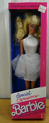 SPECIAL EXPRESSIONS BARBIE~Woolworth Limited Edition~Mattel 1989 4842~NEW NRFB
