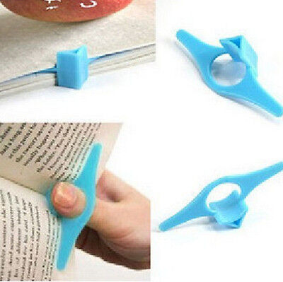 Plastic Mark Multifunction Thumb Book Page Holder Marker Convenient Bookmark 1X