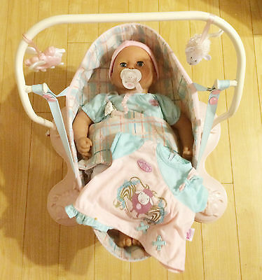 BABY ANNABELL INTERACTIVE DOLL ZAPF CREATION & Zapf Hanging Soft Cradle