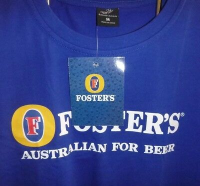 Fosters Larger T Shirt Tops Size: 2Xl Double Extra Large Gift Mens